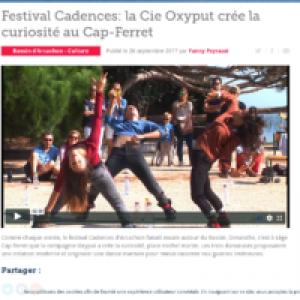 Festival Cadences: la Cie Oxyput crée la curiosité au Cap-Ferret