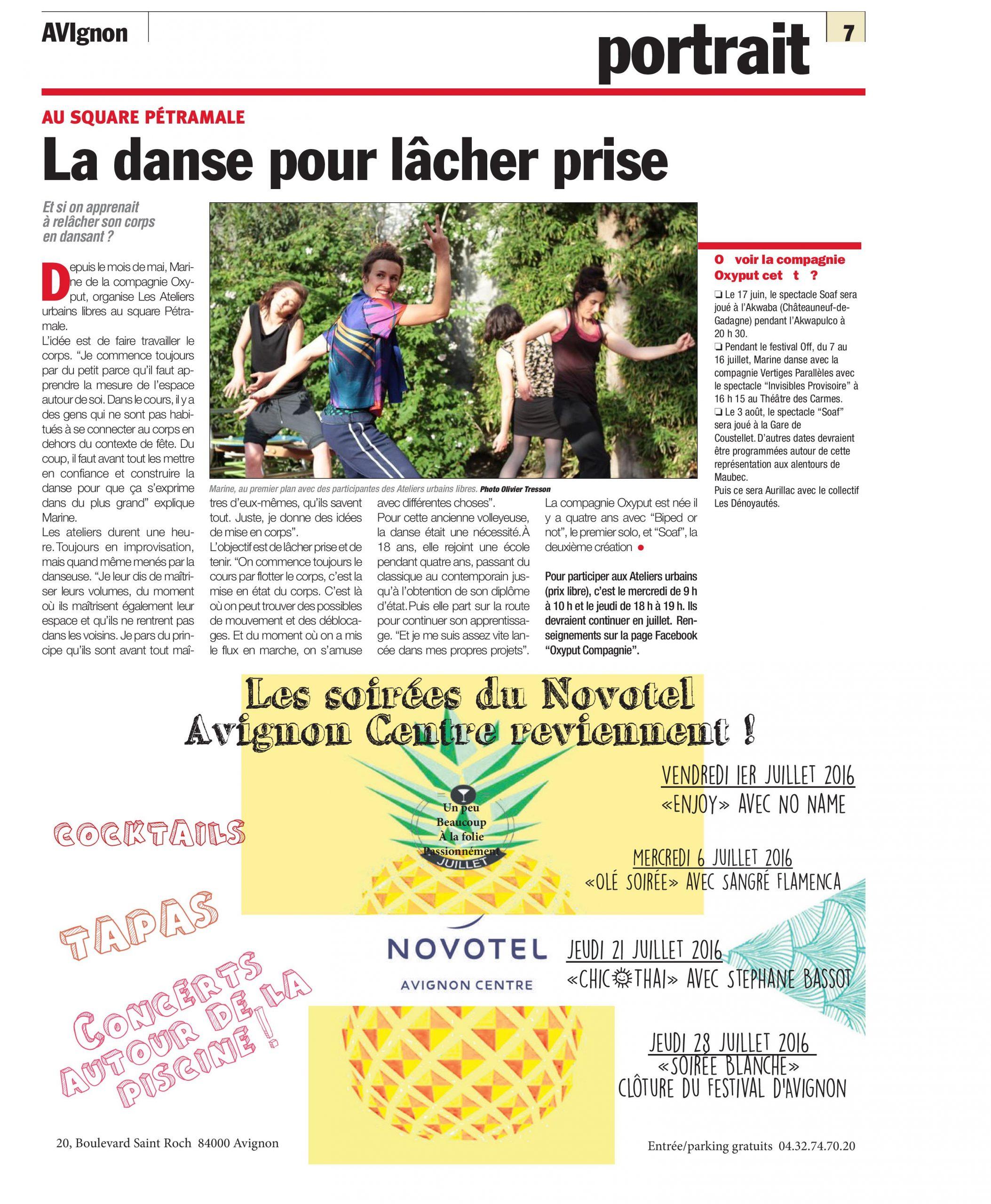 """""""La danse pour lâcher prise"""" - Portrait, AVIgnon"""